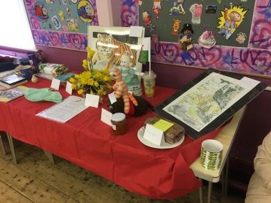 Display of members arts and crafts skills.